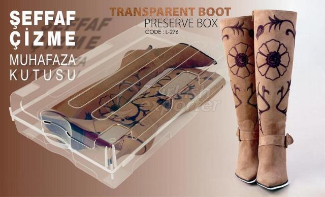 Transparent Boot Preserve Box - L- 276