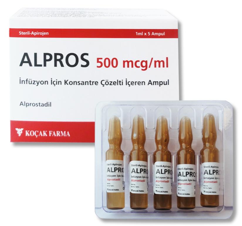 ALPROS 20mcg /1ml &  500 mcg / ml ampule
