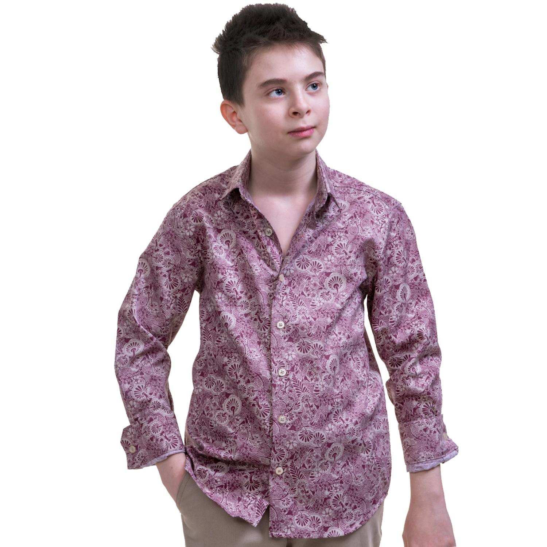 Burgundy Paisley Shirt