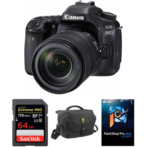 Canon EOS 80D DSLR Camera and 18-135mm Lens