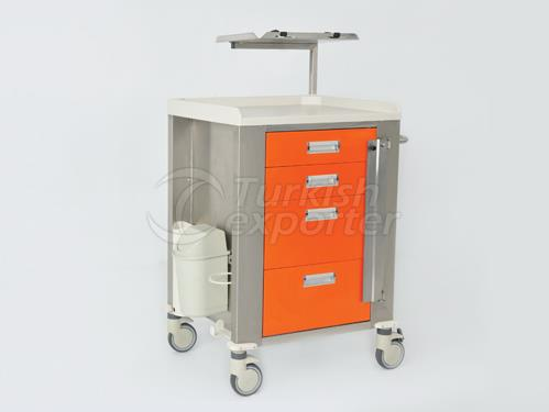 Распределение аварийной ситуации на тележке и распределение лекарств