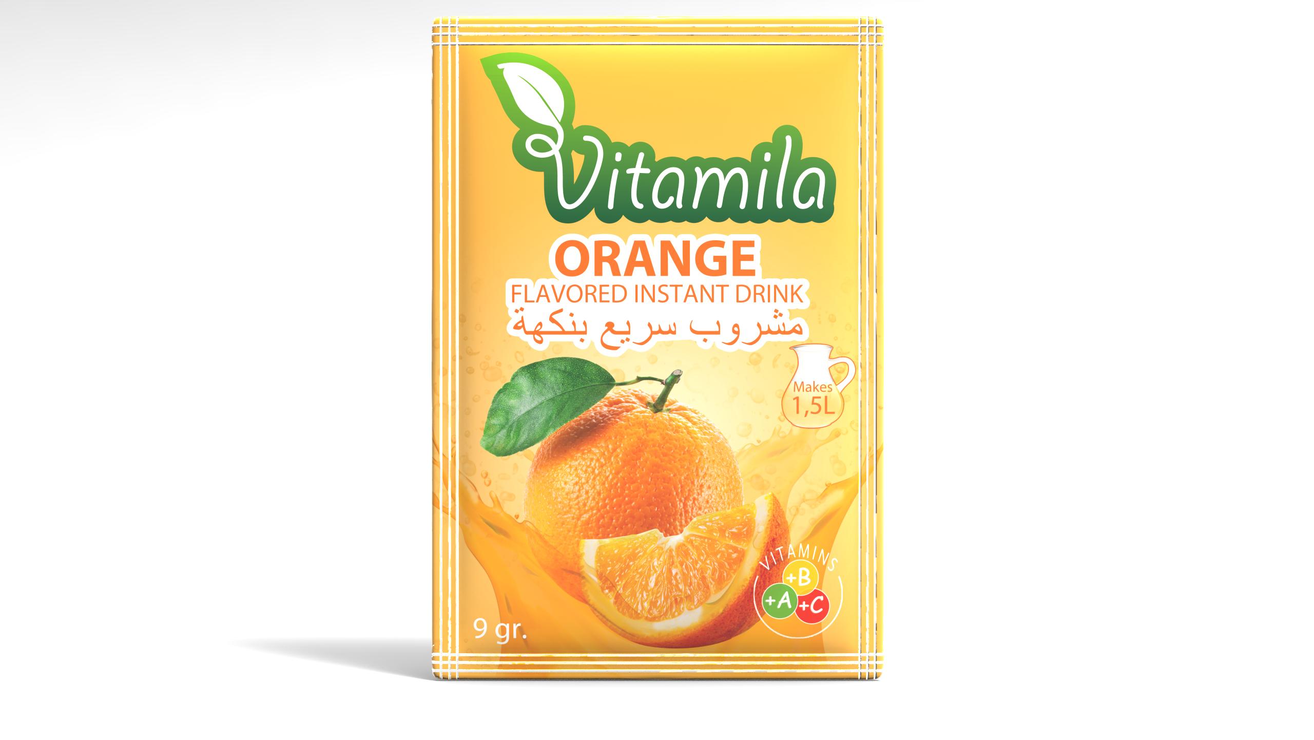 Vitamila - Orange Flavoured Instant Powder Drink - 9gr.