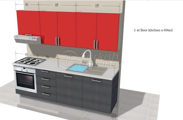 melamine kitchen set