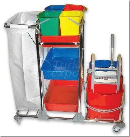 Cleaning Trolley - Double Bucket