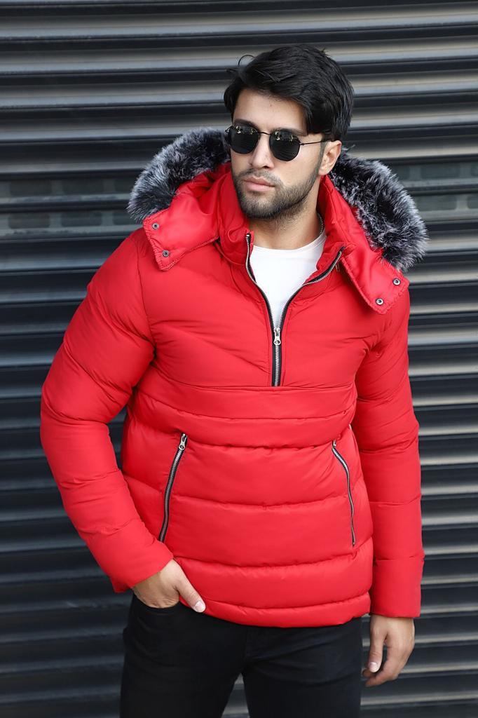 Пальто зимнее - Красное