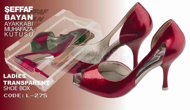 Ladies Transparent Shoe Box - L- 275