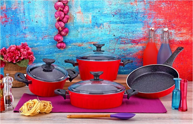 7 Pieces Eco Series Granite Coating Cookware Set
