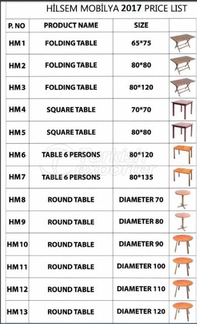 Wooden Table - Chair