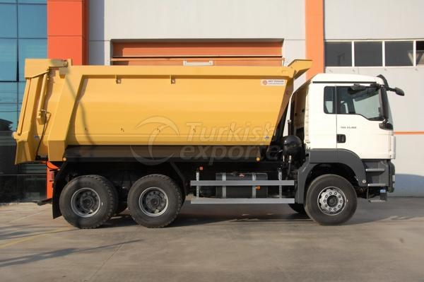 Caminhão montado meia tubulação Dump05