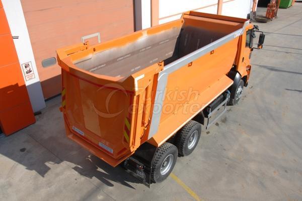 Caminhão montado meia tubulação Dump03