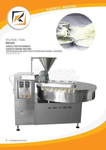 Automatic kunafa making machine