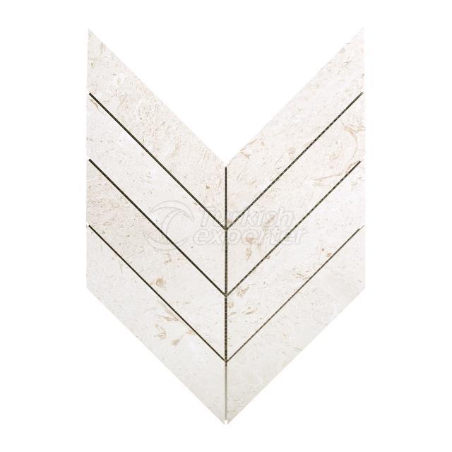 2'' x 8'' Chevron Mosaic Myra Beige