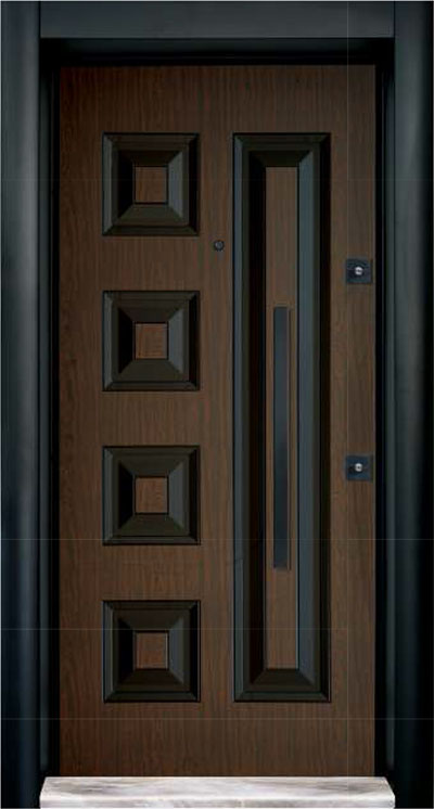 Rustic Cylinder  Steel Door 7716