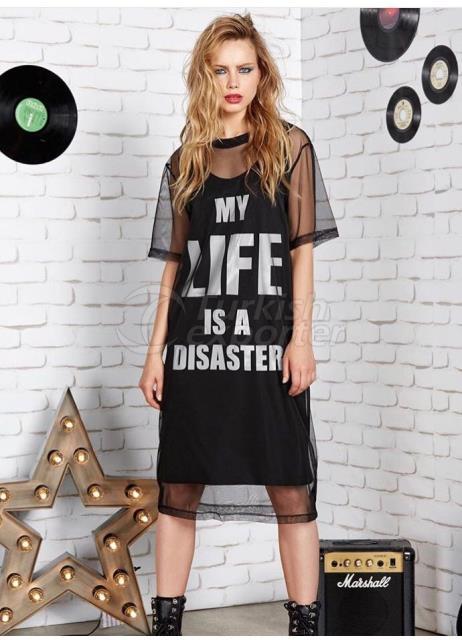 Black Sports Design Dress