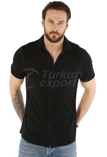 Chemise à manches courtes en cachemire Fersatile - 8699908841864