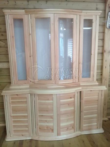Деревянный шкаф для офиса