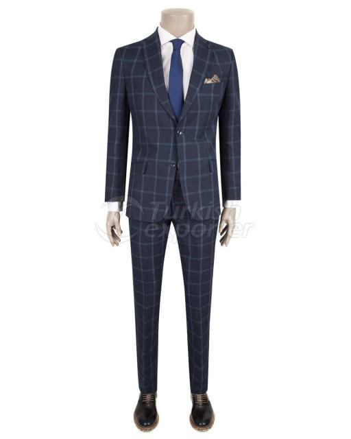 Slim Fit Dark Blue Suit
