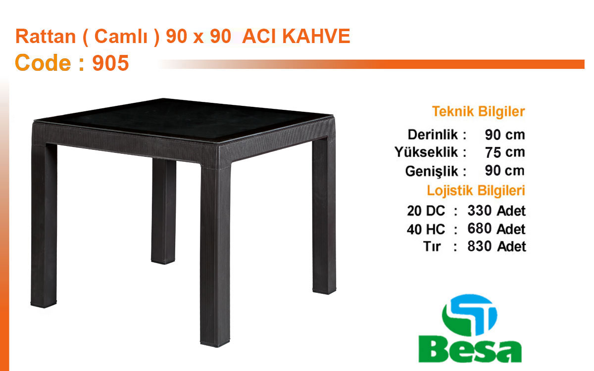 Plastic Rattan Coffee Table - 905
