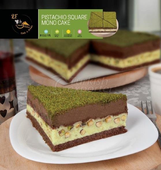 Frozen Pistachio Square Mono Cake