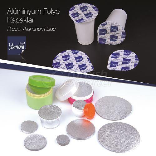 Tapas de aluminio precortadas