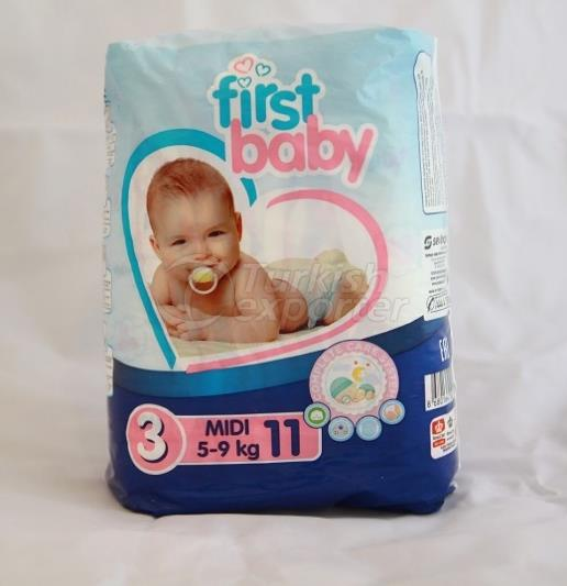 FIRST BABY 3 NO MIDI BABY DIAPER 5-9 KG