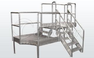 Plataforma de aço inoxidável
