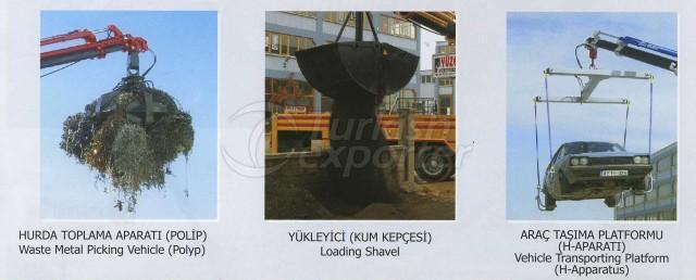 Waste Metal Picking Vehicle (Polyp), Loading Shavel, Vehicle Transporting Platform (H-Apparatus)
