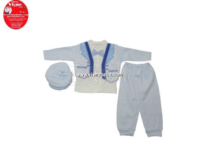 Brode 3 piezas Babygro Set con chaqueta