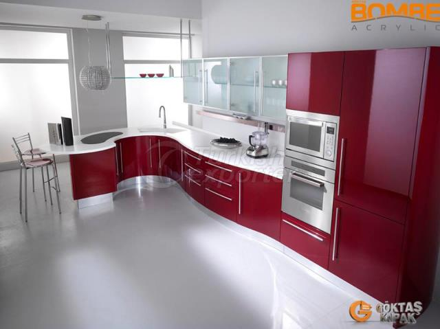 Curved Design Kitchen Unit