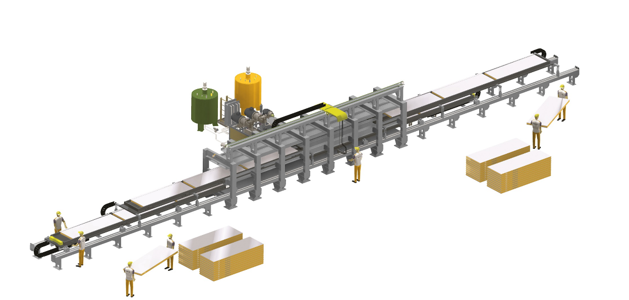 Разрывная линия по производству панелей