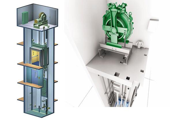 Elevator with Machine Room