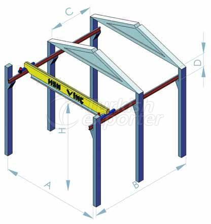 Sinle girder overhead travelling crane
