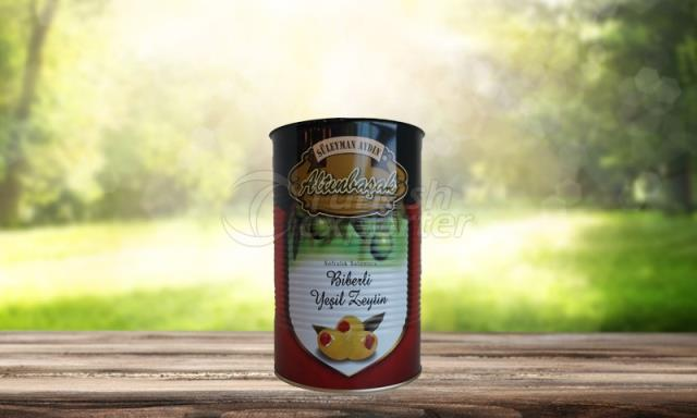 Olive verte poivrée