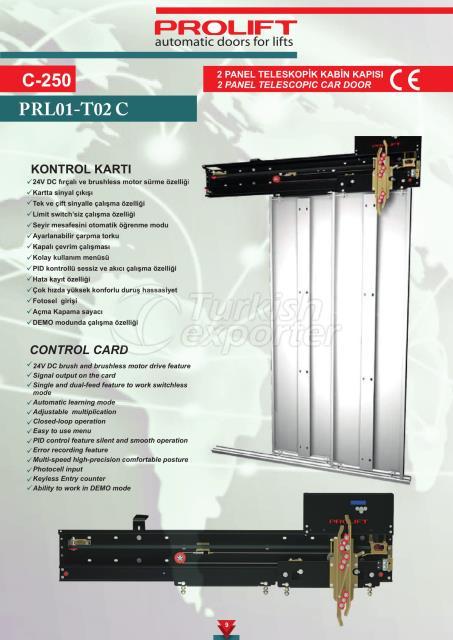 2PNL TELESCOPIC CAR DOOR
