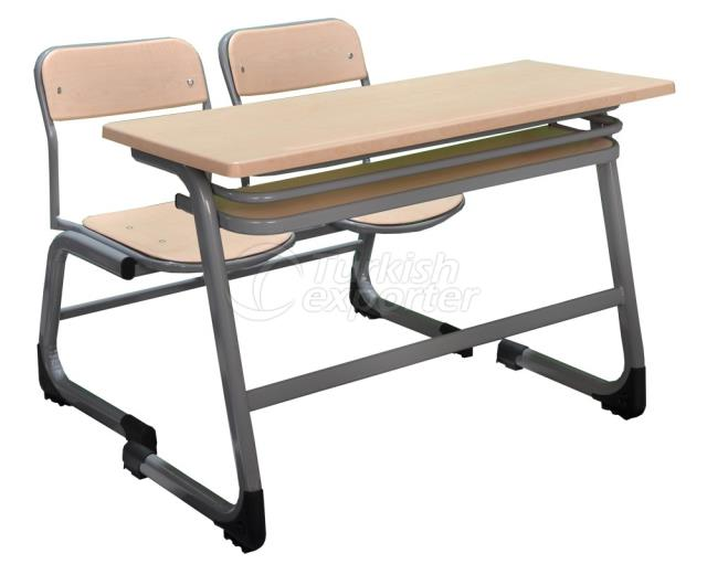 Werzalit Double School Desk CC010