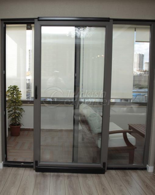 pvc aluminum parallel sliding door