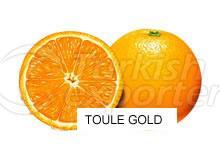 Orange Toule Gold
