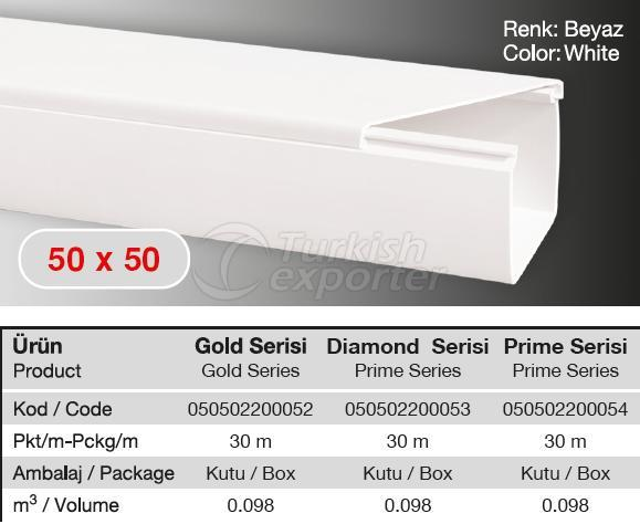 50x50 PVC  Cable Trunking