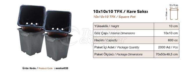 10x10x10  Square Pot