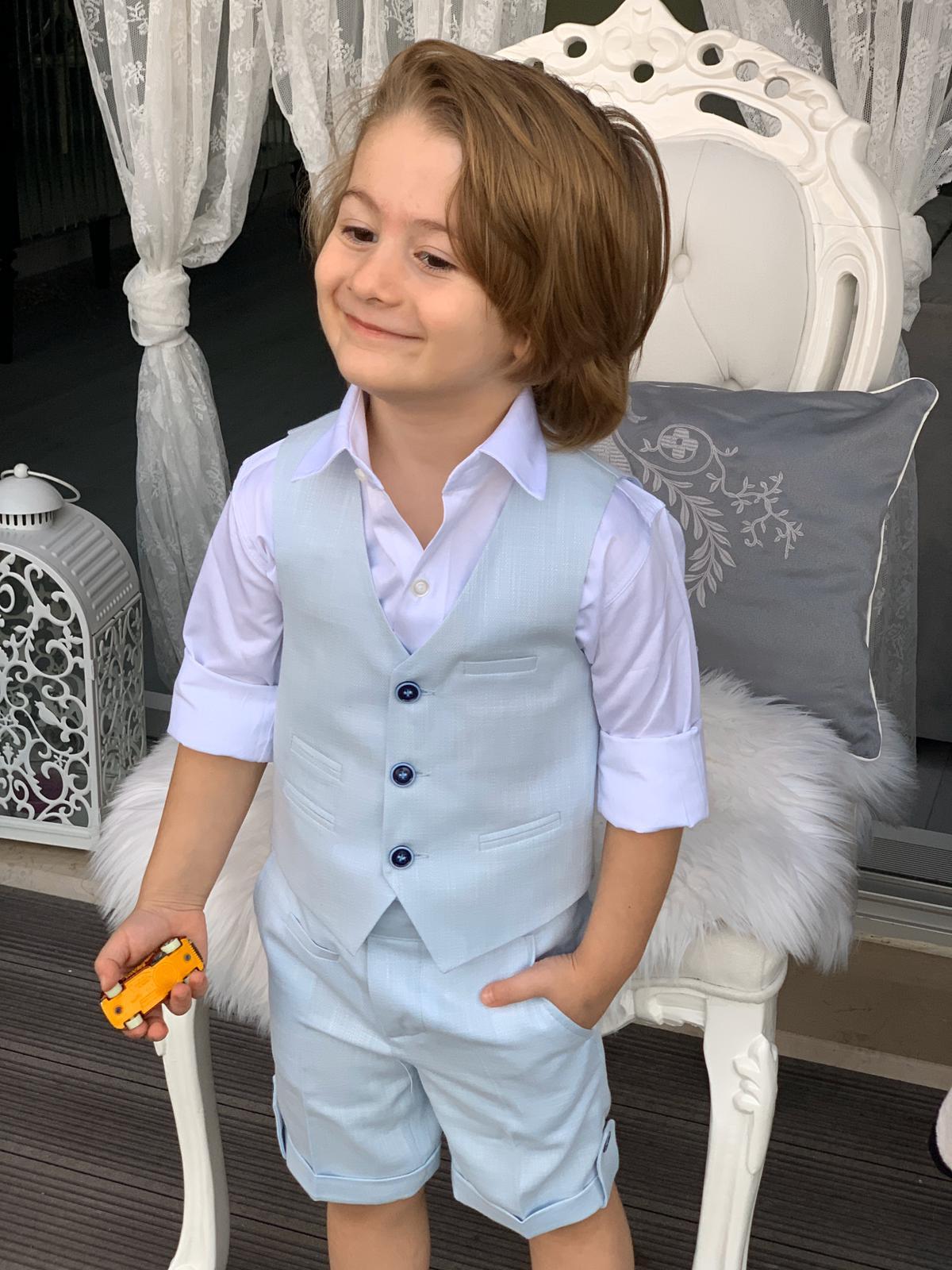 Vest Suit with Short