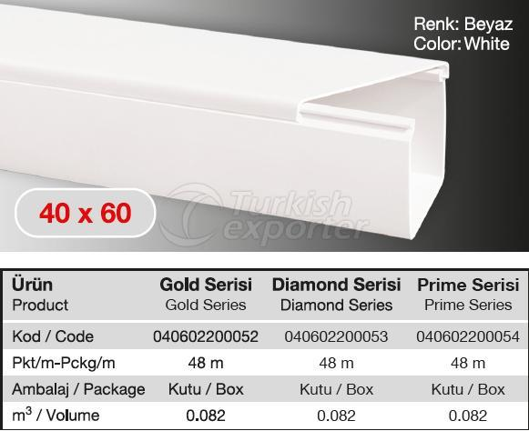 40x60 PVC  Cable Trunking