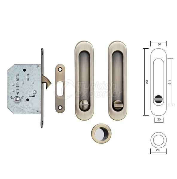 Handle With Mortise Lock S223 AB