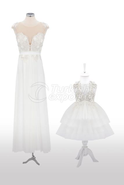 Mother and Daughter Dresses Y7743