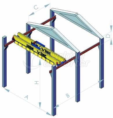 Double Girder Movable Bridge Crane