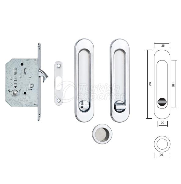 Handle With Mortise Lock S223 CP