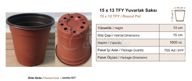 15x13  Round Pot
