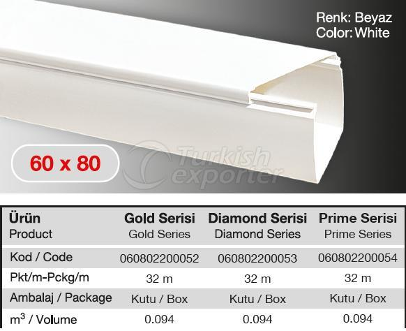 60x80 PVC  Cable Trunking