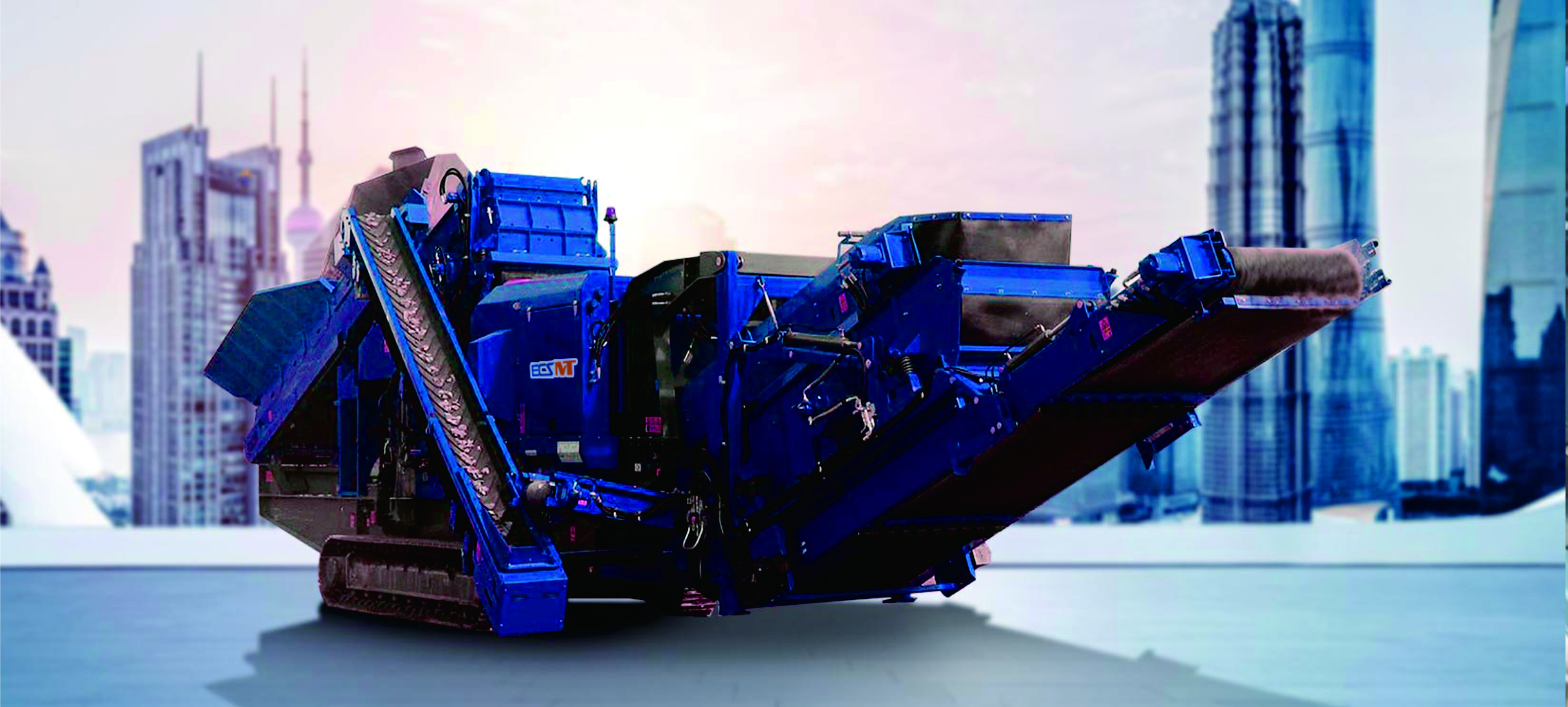 EMV200 (RS) Crawler Mobile Impact Trituradora - Máquina para fabricar arena