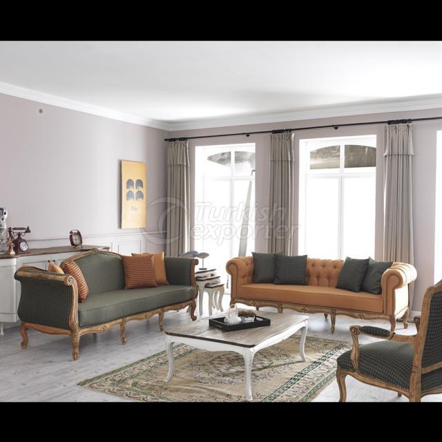 Conjunto de sofá vintage