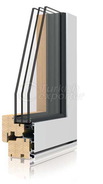 Ahşap Alüminyum Pencere ve Kapı Sistemleri -Zero